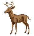 pixel art deer vector image