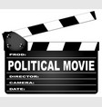 political movie clapperboard vector image vector image