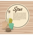 poster spa therapy lotion oil herbal candles vector image vector image