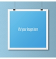 Realistic blank Poster Template on Wall vector image vector image