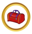 Red sports bag icon cartoon style vector image vector image