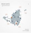 saint martin infographic map vector image vector image