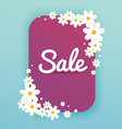 Sale Banner with flowers Sale Poster Sale Flyer vector image vector image
