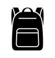 schoolbag or school bag backpack icon vector image vector image
