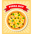 seafruit pizza day vector image