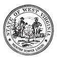 seal state west virginia 1904 vintage vector image vector image