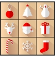 Set of new year pictures vector image