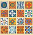 set of portuguese tiles collection of colored vector image vector image
