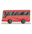 side view of red bus on white background vector image