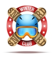 Ski club or team badges and labels vector image vector image