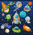 space planet astronaut poster vector image