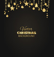 sparkling christmas glitter ornaments on black vector image vector image