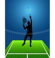 sport background tennis man vector image vector image