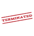 Terminated Watermark Stamp vector image vector image