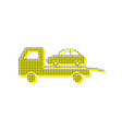 tow car evacuation sign yellow icon with vector image vector image