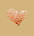 valentines day wallpaper the outline of the heart vector image