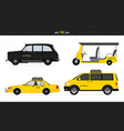 various types cab vehicles vector image
