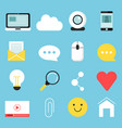 web icons set of various symbols for blogging and vector image