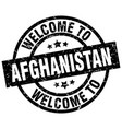 welcome to afghanistan black stamp vector image vector image
