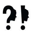 woman head with question mark vector image vector image