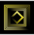 yellow neon square background vector image vector image