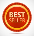 best seller red label vector image