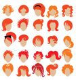 red hair styling vector image