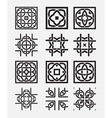 Tile element tribal celtic knot vector image