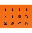 Chess Figures icons on orange background vector image