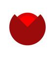 poppy red flower isolated flowers emblem logo vector image