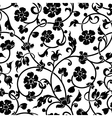 abstract flowers baroque seamless pattern vector image