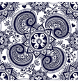 Abstract seamless gzhel pattern for fabric vector image