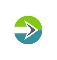 arrow right icon logo vector image