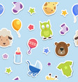 baby theme seamless pattern vector image