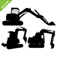backhoe silhouette vector image vector image