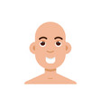 bald-headed man character flat style vector image vector image