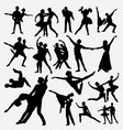 ballerina dance competition silhouette vector image vector image