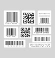 barcode black and white set vector image