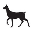 black silhouette female deer vector image vector image