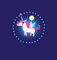 bright sign a fabulous unicorn vector image vector image