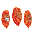 Burning monkey heads Sticker concept vector image vector image