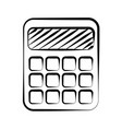 calculator doodle on white background vector image vector image