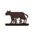 capitoline wolf with romulus and remus vector image vector image