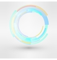 Circle looped abstract logo design template vector image