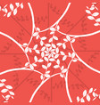 circle pattern with leaves background vector image vector image