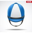 Classic Jockey helmet vector image vector image