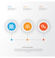 construction icons set collection of cogwheel vector image vector image