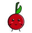 cute cherry emoticon vector image