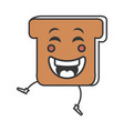 delicious toast bread icon vector image