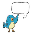 digitally drawn birds and speech bubbles design vector image